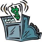 Registo de dinheiro Imagem de Stock Royalty Free