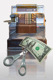 Registo de dinheiro do mercado Fotografia de Stock