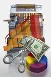 Registo de dinheiro do mercado Fotografia de Stock Royalty Free