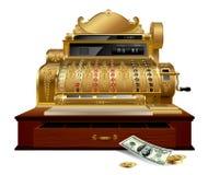 Registo de dinheiro do vintage ilustração do vetor