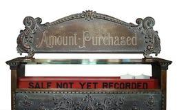 Registo de dinheiro do vintage Foto de Stock
