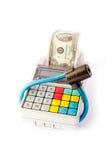 Registo de dinheiro portátil Fotos de Stock Royalty Free