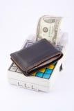 Registo de dinheiro portátil Imagens de Stock Royalty Free