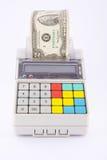 Registo de dinheiro portátil Imagens de Stock