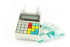 Registo de dinheiro portátil Imagem de Stock Royalty Free
