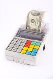 Registo de dinheiro portátil Fotografia de Stock