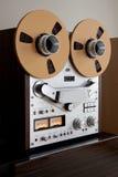 Registrador aberto da plataforma de fita do carretel do estéreo análogo imagens de stock