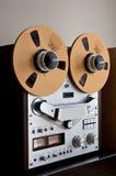 Registrador abierto de la cubierta de cinta del carrete de la estereofonia analogica Imagen de archivo libre de regalías
