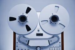 Registrador abierto de la cubierta de cinta del carrete de la estereofonia analogica Imagen de archivo