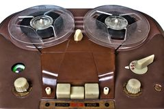 Registrador análogo del vintage de carrete en blanco Imagen de archivo libre de regalías