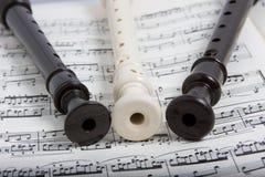 Registrador com música Imagens de Stock