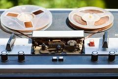 Registrador de carrete del vintage al aire libre Fotos de archivo