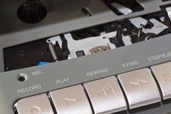 Registrador de cinta de cassette Imagen de archivo libre de regalías