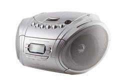 Registrador de radio del cassete con el lector de cd Fotos de archivo libres de regalías