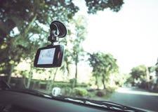 Registrador do carro da câmera da parte dianteira do carro DVR Fotos de Stock Royalty Free