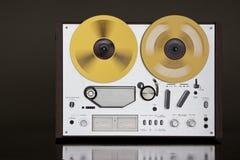 Registrador estéreo de carrete de la cubierta de cinta de la vendimia Fotografía de archivo