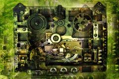 Registrador fundo-análogo do vintage imagem de stock