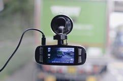 Registrador video del coche Imagenes de archivo