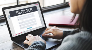 Registration Application Membership Account Concept Royalty Free Stock Photos
