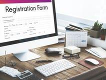 Registration Application Paper Form Concept Stock Photo