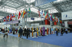 Registration area at the Greater New York  Dental Meeting at Javits Center Royalty Free Stock Images