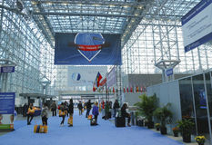Registration area at the Greater NY Dental Meeting at Javits Center in New York Royalty Free Stock Photo
