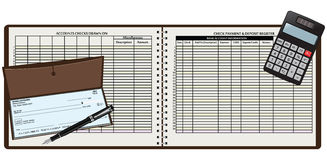 Registration book Stock Photography