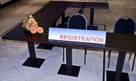 Registration Booth Sign Royalty Free Stock Photo