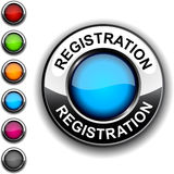 Registration button. Illustration of Registration realistic button Royalty Free Stock Photography