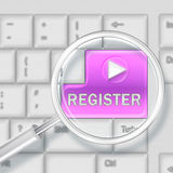 Registration concept Royalty Free Stock Photo
