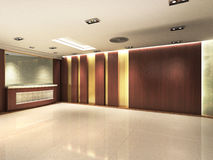 Registration Counter area. Of a hotel with grand decoration royalty free illustration