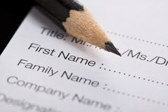 Registration form Royalty Free Stock Photo