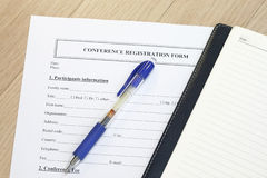 Registration form Royalty Free Stock Image
