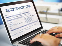 Registration Form Application Information Concept Royalty Free Stock Photo