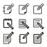 Registration icon set. Registration vector icons set. Black illustration isolated on white background for graphic and web design Royalty Free Illustration