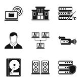 Registration icons set, simple style Royalty Free Stock Photography