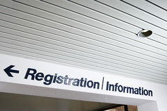 Registration and information sign Royalty Free Stock Images