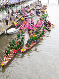 Registration of long boat race. SAMUTPRAKRAN - OCTOBER 17: Registration of competitor team for Long Boat Race in the Lotus Receiving Festival or Rub Bua Festival Stock Photos