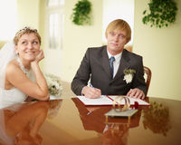 Registration of marriage Stock Photography