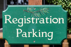 Registration parking Royalty Free Stock Images