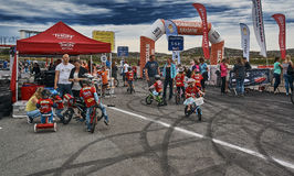 Registration of participants of the race Tour of Norway for kids stock photo