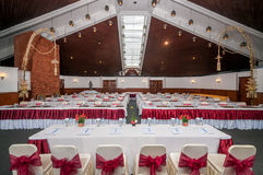Registration of scene and conference hall interior Stock Images