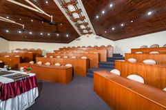 Registration of scene and conference hall interior Royalty Free Stock Photography