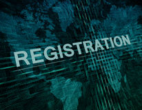 Registration Stock Photo