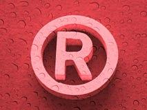 Registrato depositato Fotografia Stock Libera da Diritti