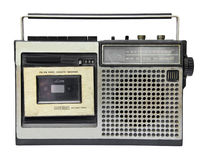 Registratore a cassetta radiofonico d'annata immagine stock libera da diritti