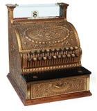 Registratore di cassa antiquato, vista isomorfica fotografia stock