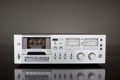 Registratore stereo della piattaforma del nastro a cassetta dell'annata Immagini Stock
