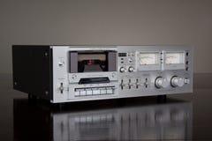 Registratore stereo della piattaforma del nastro a cassetta dell'annata Fotografia Stock