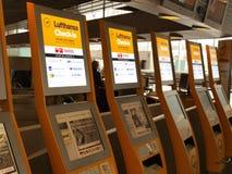 Registrazione del Lufthansa Immagini Stock